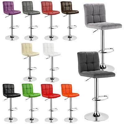 Barhocker Barstuhl Design Stuhl Gepolstert Kunstleder Chrom drehbar #717-24 ()