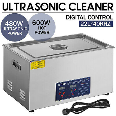 Commercial 22l Ultrasonic Cleaner Cleaning Machine Industry Heated W Timer New