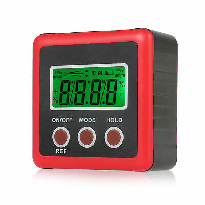 360 Lcd Digital Angle Finder Level Box Protractor Measure Tool Inclinometer