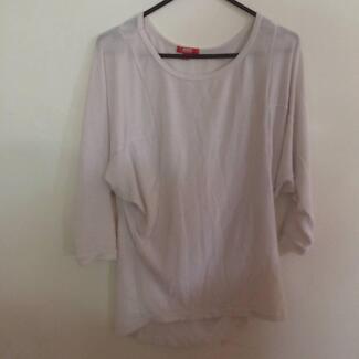 Ladies Winter White Long Sleeve Shirt