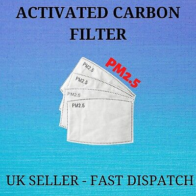 NEW PM2.5 Filter Activated Carbon Replaceable Breathing Air Filtration UK