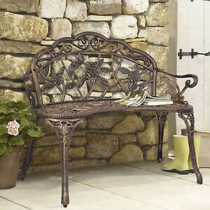 Garden Furniture Cast Iron Cast iron garden furniture ebay outdoor patio garden bench park yard furniture cast iron antique rose bronze workwithnaturefo