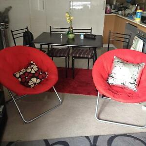 Dining table,foldable chairs, carpet Macquarie Park Ryde Area Preview