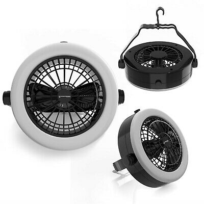 Battery Operated LED Light and Fan 12 LED Lights 3 AA Batteries Camping Hangs - Battery Operated Fan And Light
