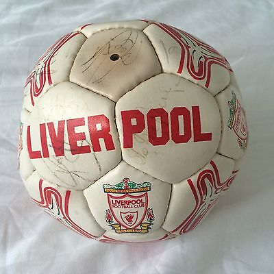 Retro '94 Liverpool FC Football signed at Melwood in person by Liverpool legends