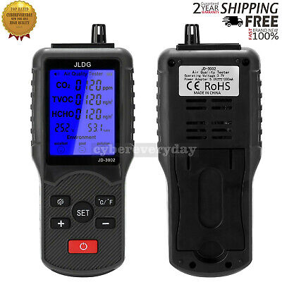Air Quality Tester Meter Co2 Tvoc Hcho Temperature Humidity Monitor Assistant