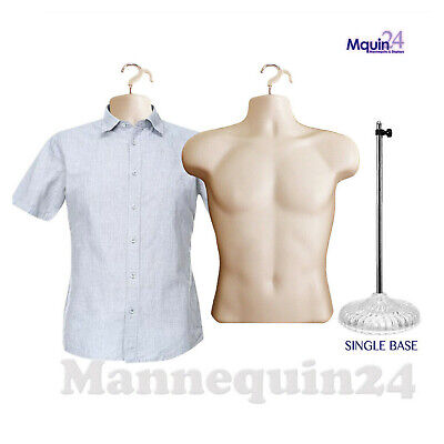 2 Flesh Mannequins One Male Torso Wa Stand One Male Torso Hanging Mannequin