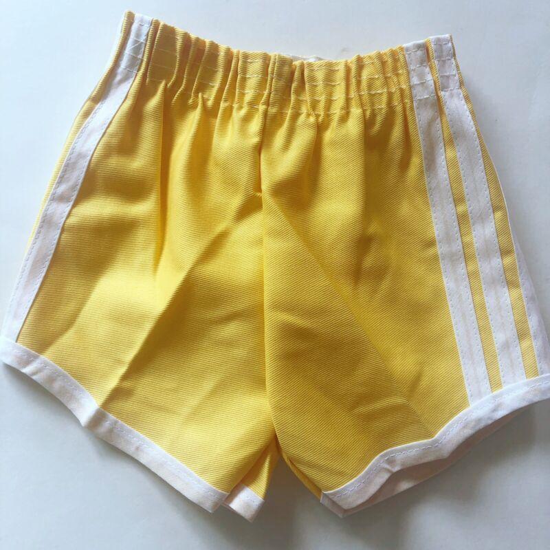 FARRIS FASHIONS NWOT Vintage Yellow Track Shorts White Stripe 3T