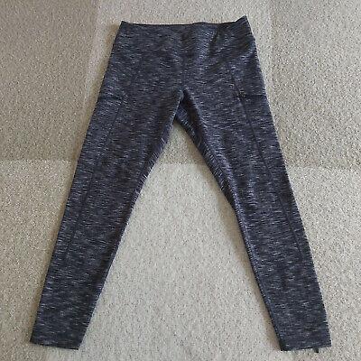 Zella Womens Yoga Leggings Size L Zipper Pockets Running Athletic Heathered Gray
