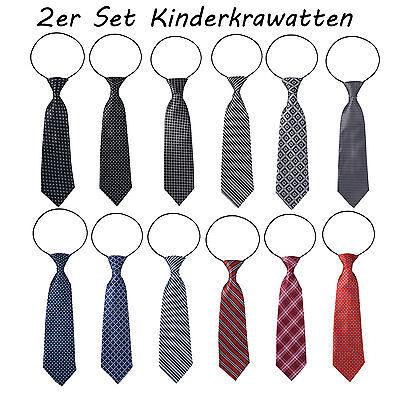 2 Stück Paar Kinder Krawatten Kinderkrawatte Jungen Gummiband gebunden dehnbar  Kinder-krawatten