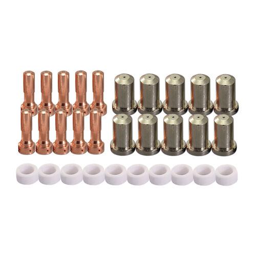 PT-23 27 Plasma Cutting Consumables Plasma Electrode Tip Nozzles 50Amp 30pk