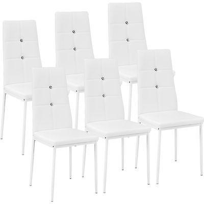 6x Chaise de salle à manger ensemble meuble salon design chaises de cuisine blan