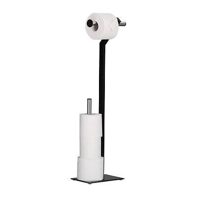 Chrom Wc Papier Halter (WC-Papierhalter stehend Klorollenhalter Metall Toilettenpapierhalter chrom Stand)