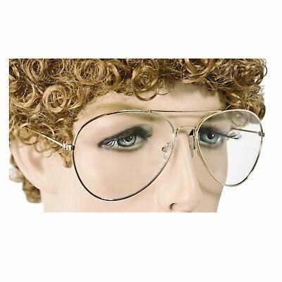Sweet Napoleon Dynamite Nerd Geek Gold Frames Clear Lens Costume Glasses - Dynamite Costume