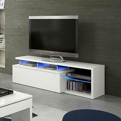 Mobile porta tv LUMINA base televisione bianco led design vano giorno salotto