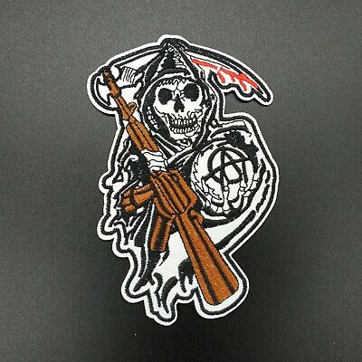 parche patch death soa sons of anarchy hijos anarquia planchar coser iron...