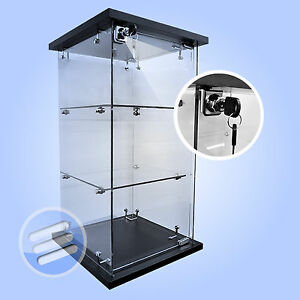 QUALITY LOCKABLE COUNTER TOP/COUNTERTOP RETAIL GLASS DISPLAY CABINET/SHOWCASE