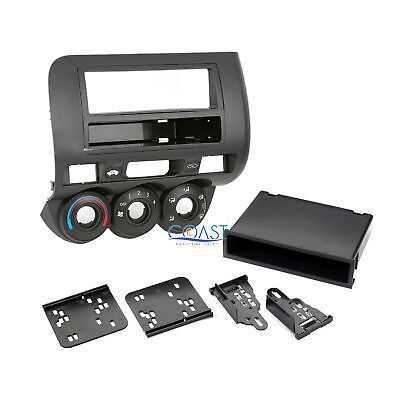 Car Radio Stereo Single Double Din Install Dash Kit for 2007-2008 Honda Fit (Best Dual Din Car Stereo)