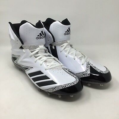 New Adidas Freak Football Cleats High Top Size 15 Black White Mens Spikes