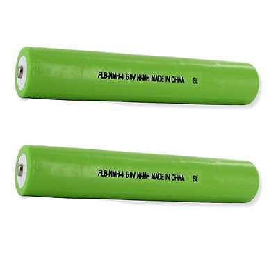 2x 6v 3500mah nimh flashlight battery replaces