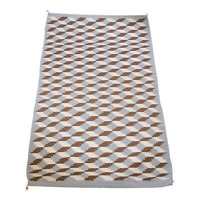 Navajo Optical Rug Weaving Building Block Pattern