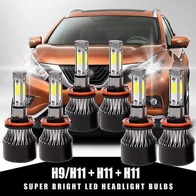H11+H11+H11 1600W LED Headlight Kit Hi Lo Beam Bulb For NissanMurano 2010-2017