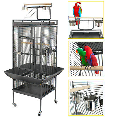 "61"" Large Bird Cage Large Play Top Parrot Finch Cage Macaw Cockatoo Pet Supplies"