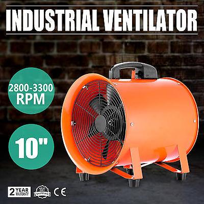 10 Exhaust Duct Fan Blower Ventilator Extractor Industrial Garage High Rotation