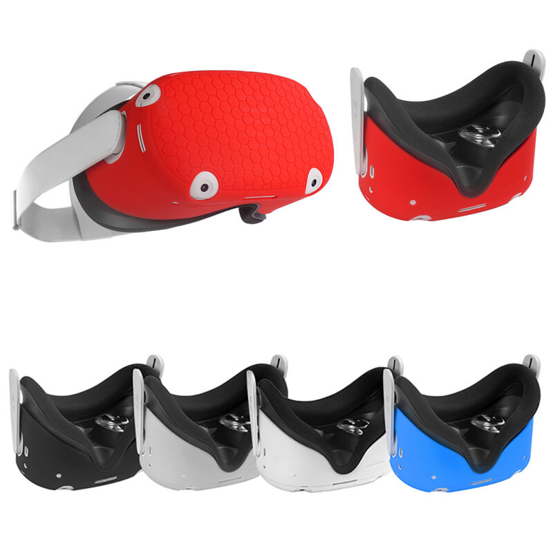 For OculusQuest2 VR Glasses Headset Silicone Front Protective Cover Sleeve