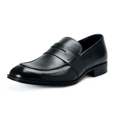 Versace Men's DSU6638 Black Leather Moccasins Slip On Shoes US 13 IT 46