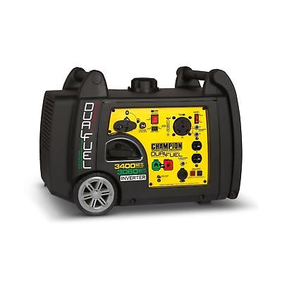 Champion 3400 Watt Electric Start Dual Fuel Rv Ready Portable Inverter Generator