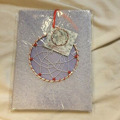 NIP DREAMCATCHER XMAS DECORATION WALL HANGING CAR ORNAMENT RED BEADS~CHEAP!  (Christmas Decorations Cheap)