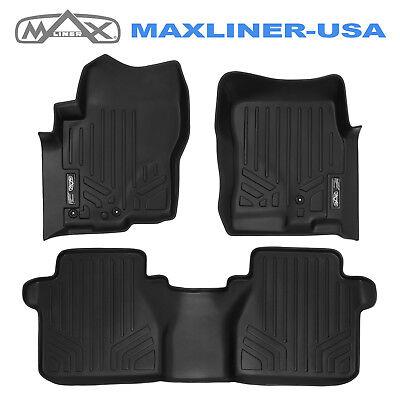 Maxfloormat Custom Fit Floor Mats Liner Set Black For Nissan Frontier Crew 05-18