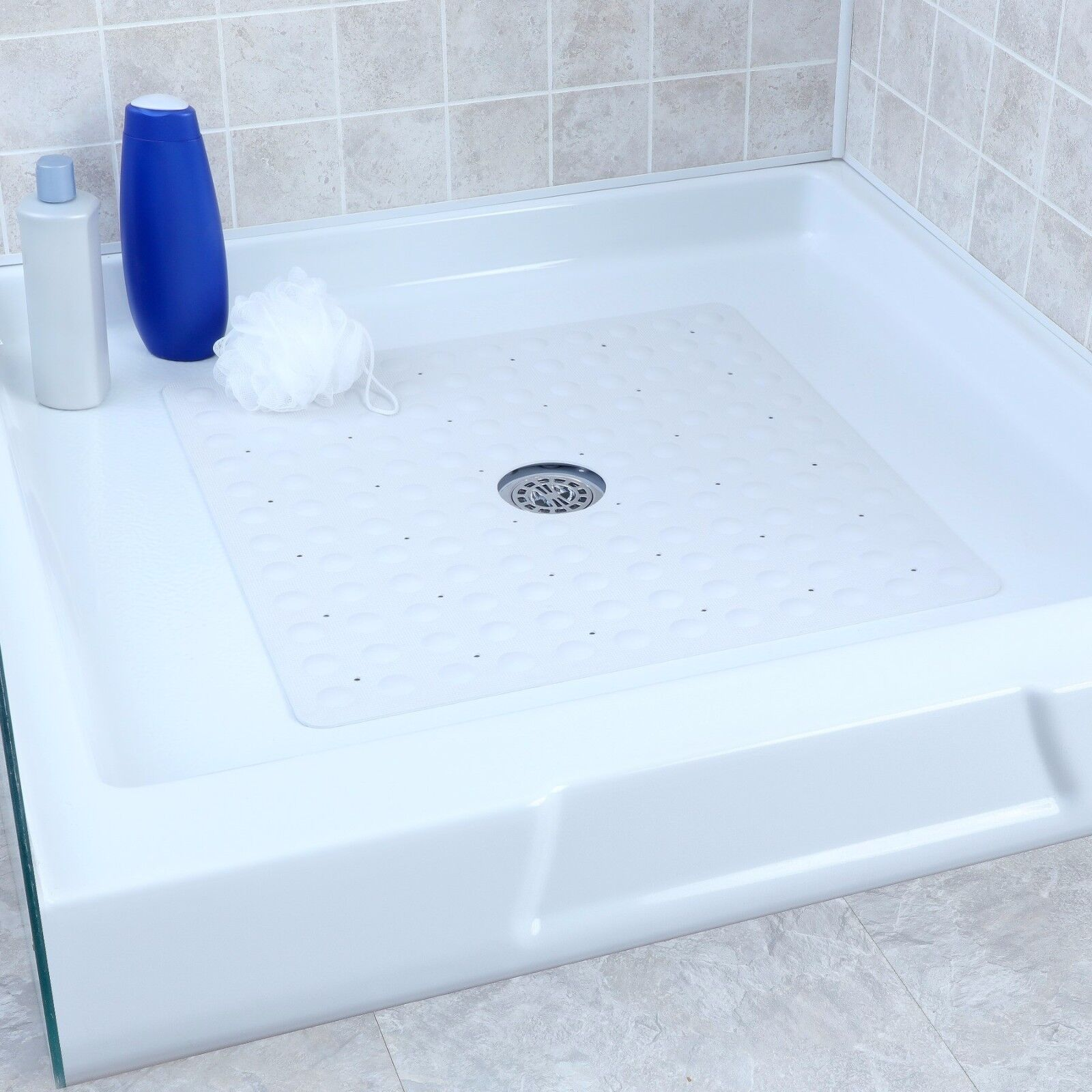 Large Non Slip Rubber Shower Mat With Microban
