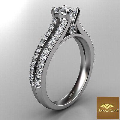 Cushion Cut Diamond Engagement GIA H VS1 Split Shank Ring 18k White Gold 1.15Ct 2