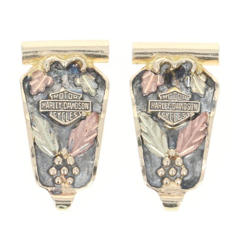 Stamper Black Hills Gold Watch Shield - 10k Yellow Gold Harley-Davidson