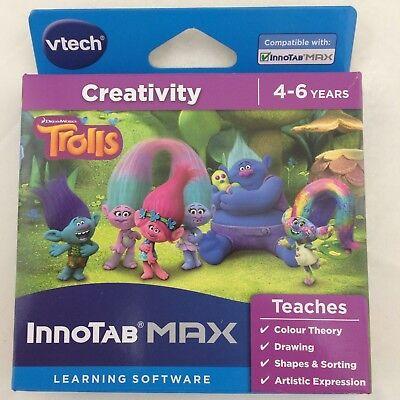 Vtech Innotab MAX Learning Software Trolls Creativity Age 4-6 years