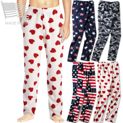 Mens Pajama Pants Flannel Fleece Lounge House Wear Size S M L Xl Xxl