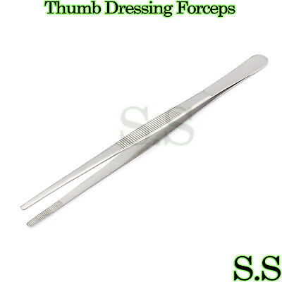 Thumb Dressing Forceps 6 Serrated Tweezers Surgical Instruments