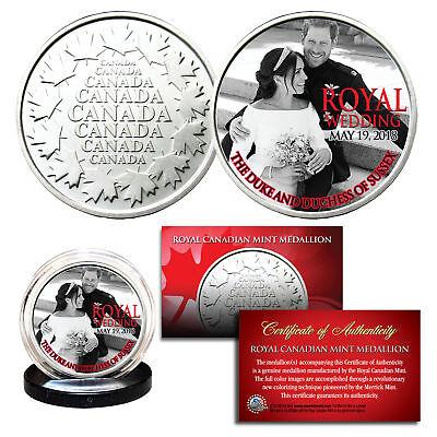 PRINCE HARRY & MEGHAN MARKLE Official Palace Royal Wedding Portrait B/W RCM Coin