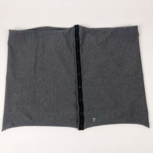 Ivivva by Lululemon Village Chill Scarf Snap Infinity Black Gray Herringbone