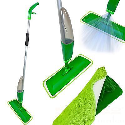Sprühmopp Wischer mit Wassertank Grün Mopp Wischmopp  Sprühwischer Spray Mop