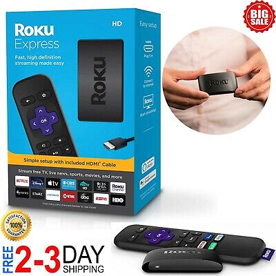 Streaming Player Stick Roku HDTV 1080p NEWEST VERSION Digital Wireless No Fees