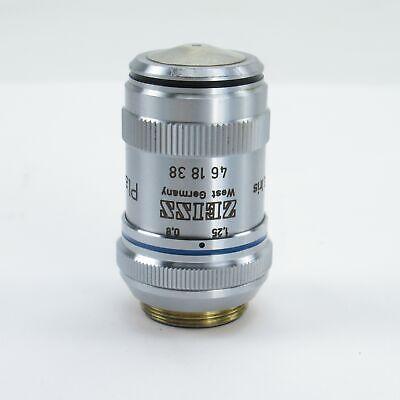 Zeiss Plan Neofluar 63x1.25 1600.17 Oil Microscope Objective W Iris 461838