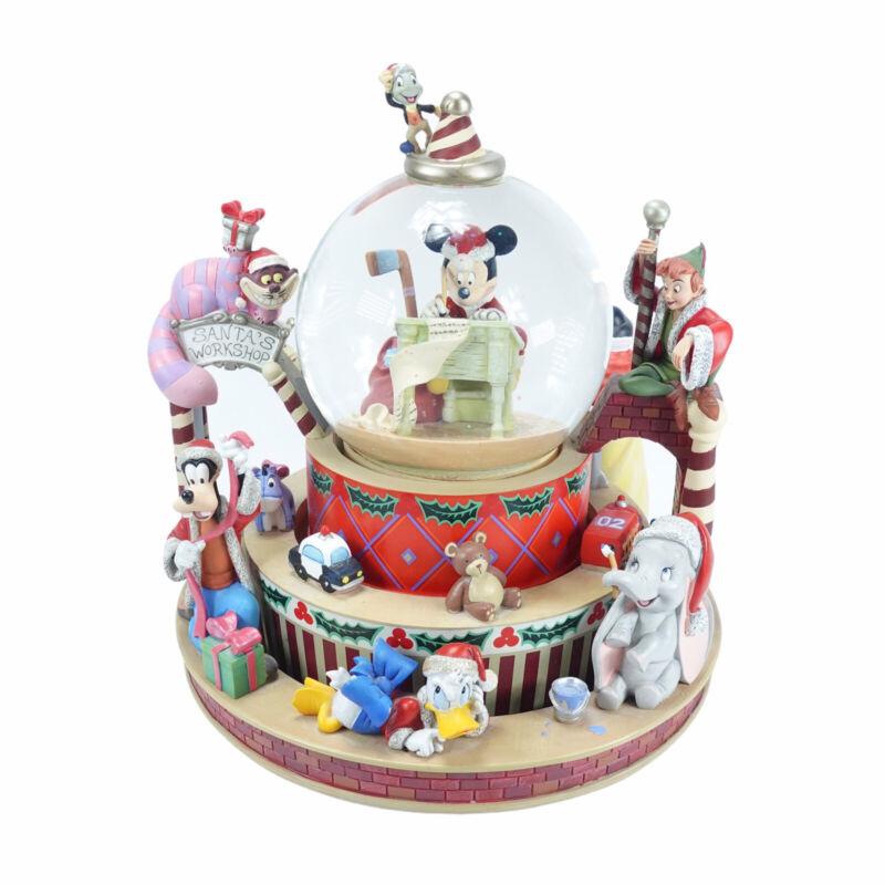 Super rare! ︎ Disney Snowglobe Mickey Mouse Snowdome Christmas Figurine