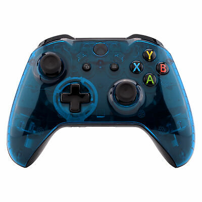 Transparent Blue Faceplate Upper Shell Fix Part for Xbox One S X Game Controller ()
