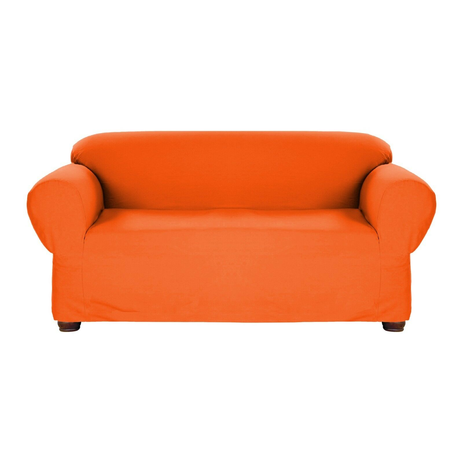 Details about ORANGE JERSEY LOVESEAT STRETCH SLIPCOVER COUCH COVER LOVE  SEAT COVER, KASHI HOME