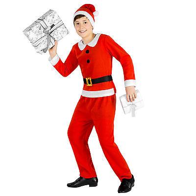 n Kostüm Nikolaus Santa Claus Weihnachts Verkleidung Jungen  (Kind Santa Claus Kostüm)