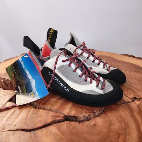 La Sportiva Finale Climbing Shoes Grey / Red Womens Size 40