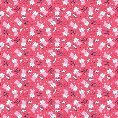 Pink Peppa Pig - Fabric Material